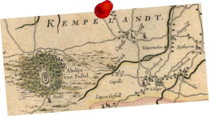wegenkaart uit 1645